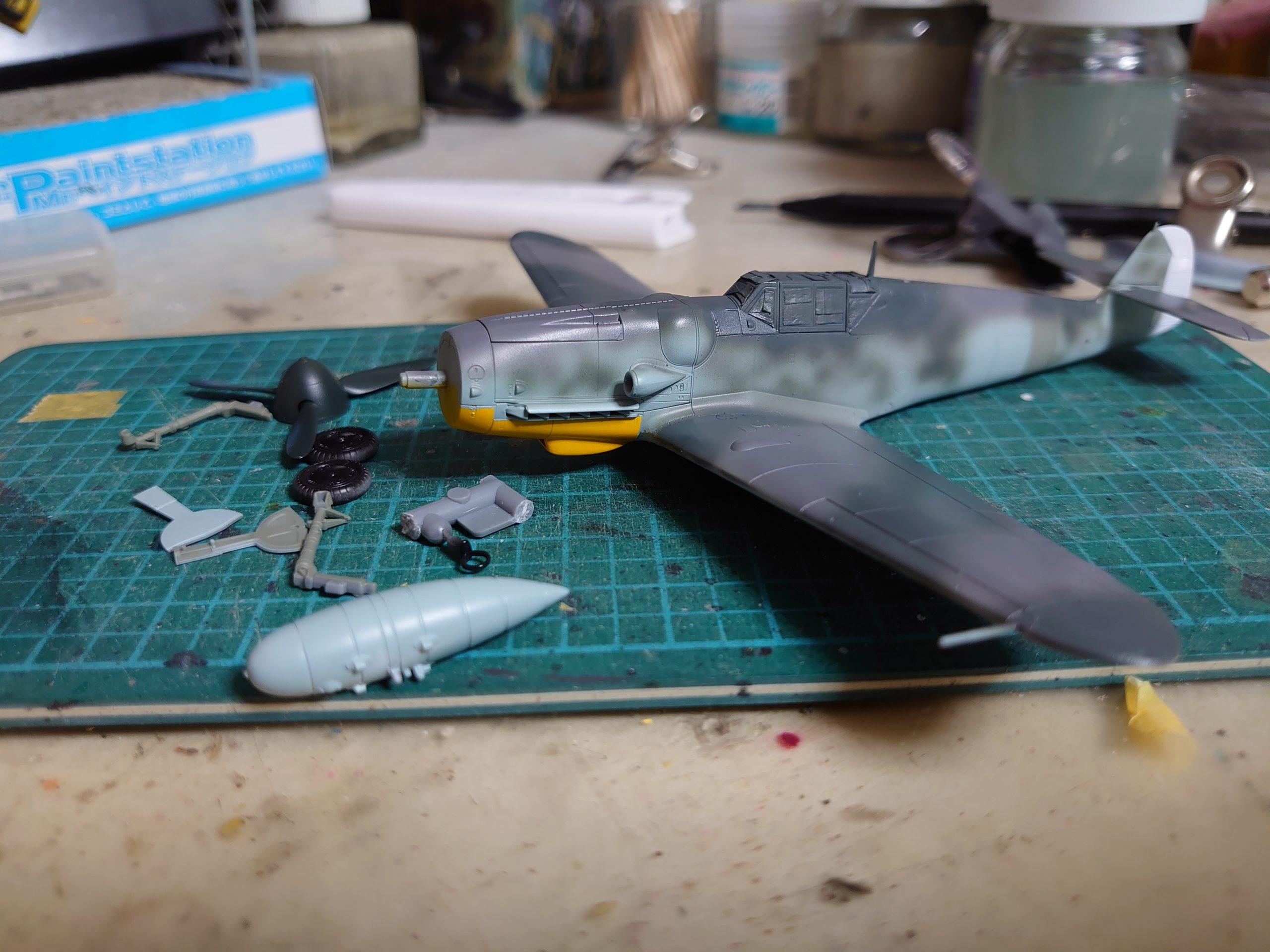 タミヤ Bf109G-6 塗装